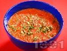 Рецепта Доматена супа със сирене